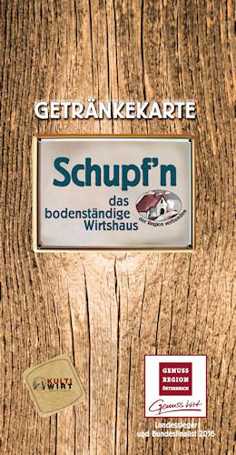 Schupfn_Getraenkekarte