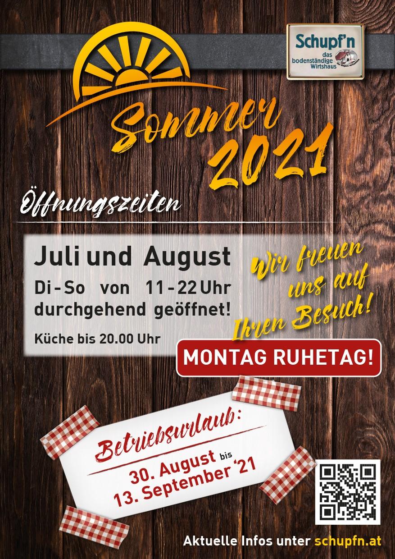 Öffnungszeiten Sommer2021